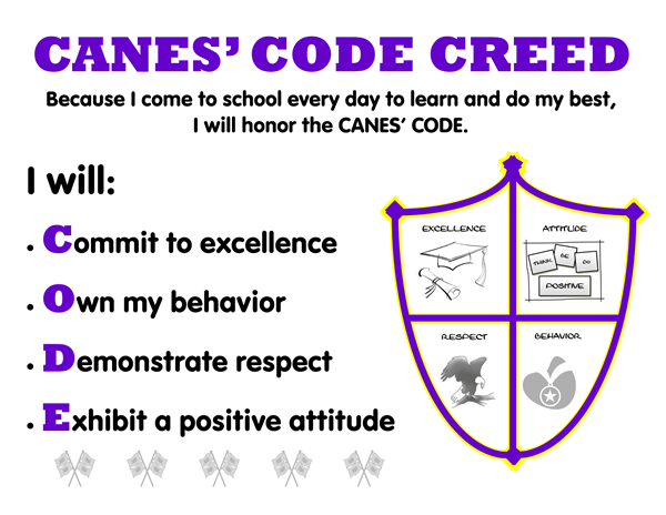 Canes' Code Creed