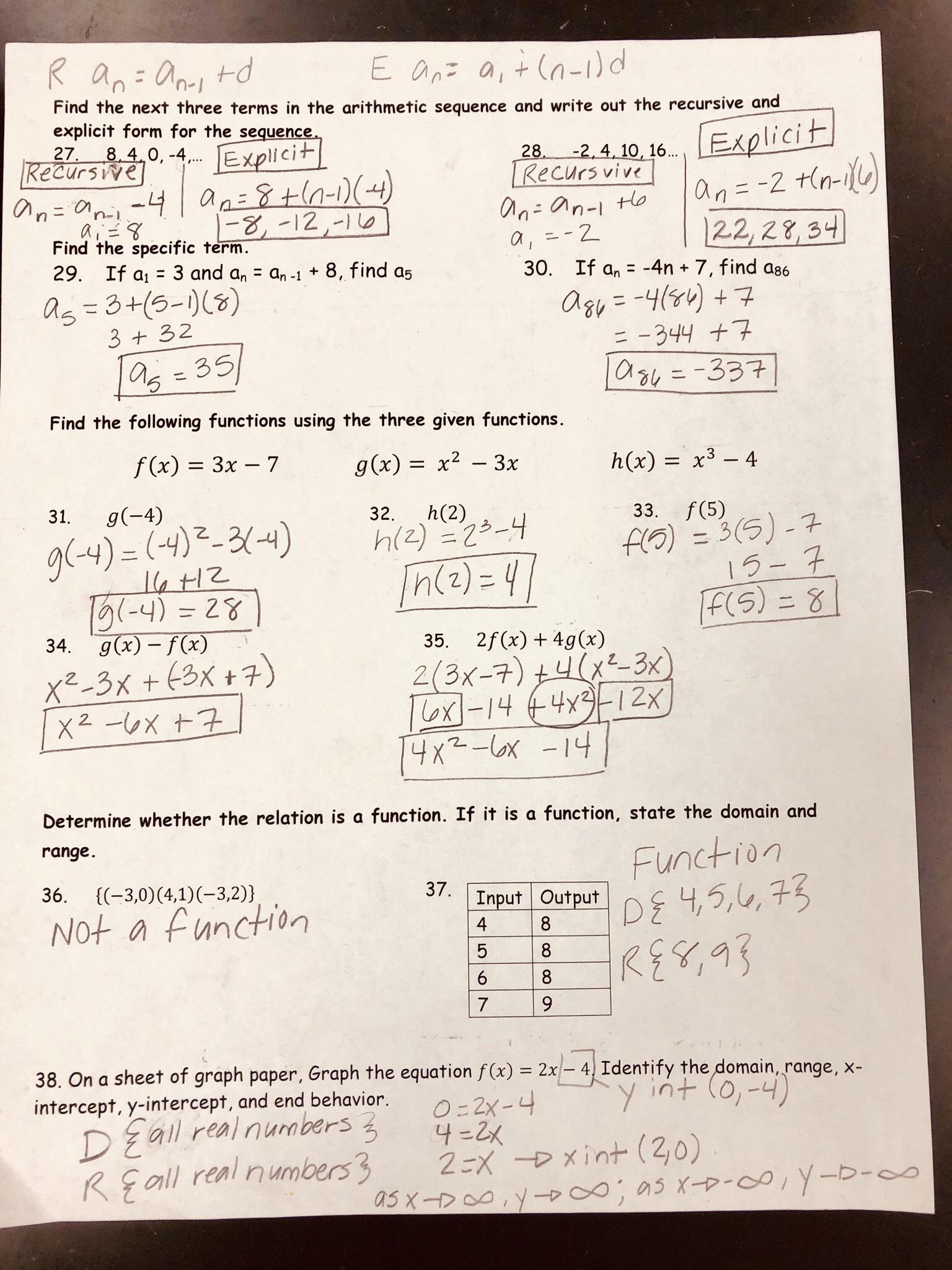 Quadratics test notes