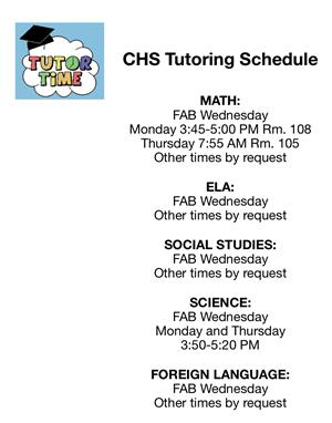 CHS Tutoring Schedule