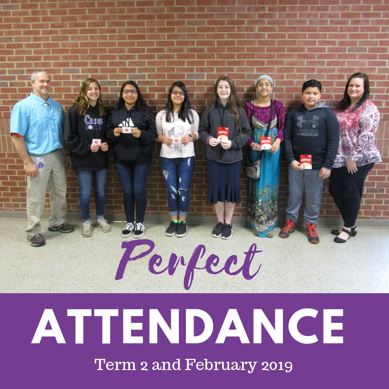 Perfect Attendance - Term 2 and Feb 2019