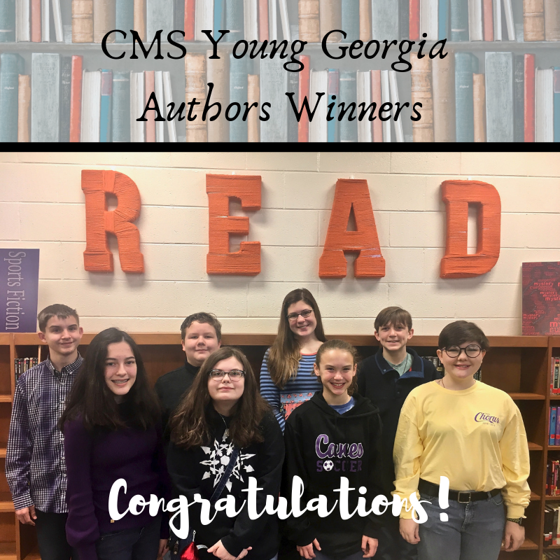 CMS Young Georgia Authors Winners